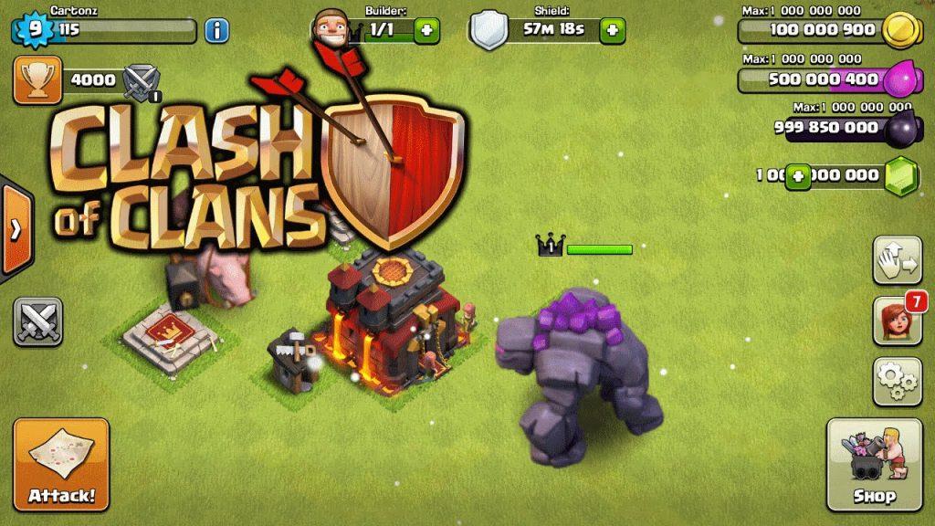 Clash of Clans Mod Apk 14.93.6 [Unlimited Money] - APKPUFF